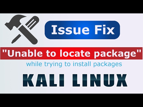 Hindi] How to fix unable to locate package error in Kali Linux - YouTube