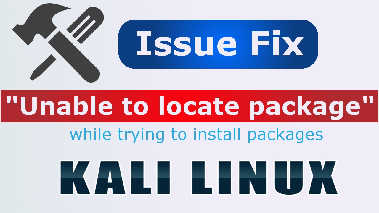 [Hindi] How to fix unable to locate package error in Kali Linux