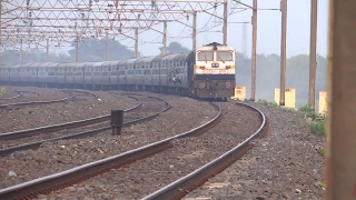12345 Up Saraighat Express With Beast Siliguri WDP 4D Pass Through Curve At Pre Burdwan Junction
