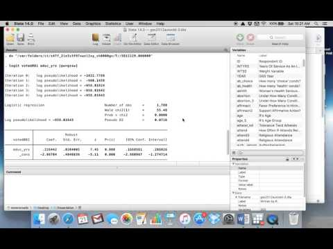 Logistic Regression with Stata