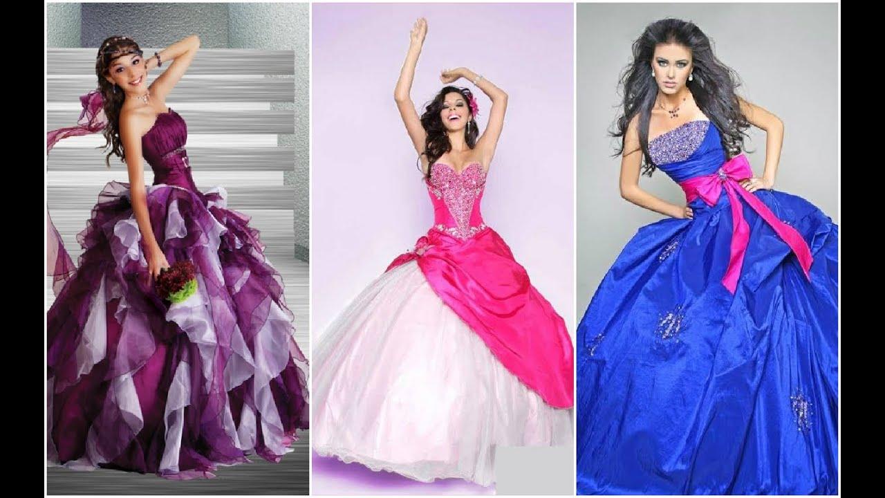Modernos vestidos estilo princesa para fiesta de 15 Años ♥ - YouTube
