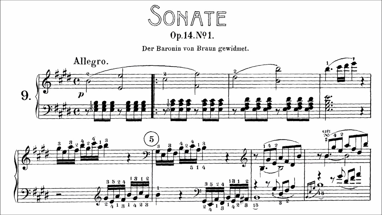 Manual Sonata Op  1 No 9 c minor - Score