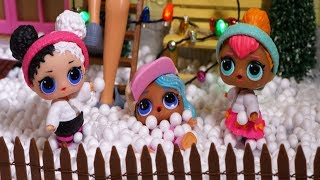 LOL SURPRISE DOLLS Snow Day & Winter Fun!