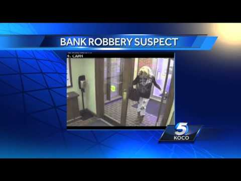 Cross-dressing bank robber strikes again in Norman