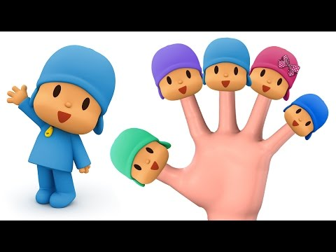 Talking Pocoyo Finger Family Song Funny Animation Baby Nursery Rhymes