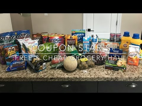 FREE & CHEAP GROCERY HAUL – July 27th 2018 – COUPON STAR