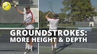 Topspin Groundstrokes Tip: More Height And Depth