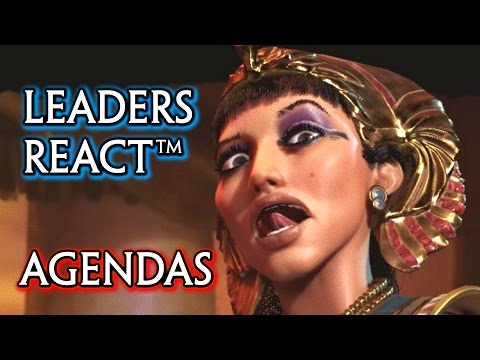 Civilization 6 🌟 All Leaders React Based on their Agenda (Cutscenes)
