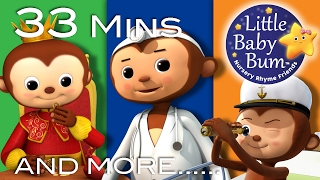 Five Little Monkeys Jumping on The Bed | Little Baby Bum | Nursery Rhymes for Babies | Songs for Kid
