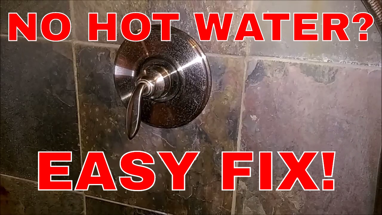 fixing a single handle shower fixture with no hot water