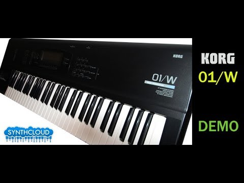 Korg 01/w Synth workstation Demonstration by S4K ( Dream Theater Acos sounds )