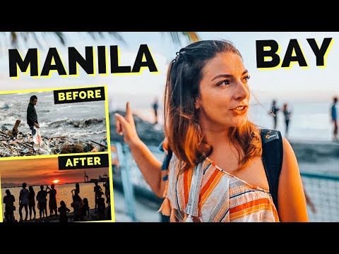 FOREIGNERS react to MANILA BAY - from most polluted beach to sunset hotspot in Manila