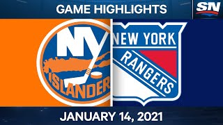 NHL Game Highlights | Islanders vs. Rangers – Jan. 14, 2021