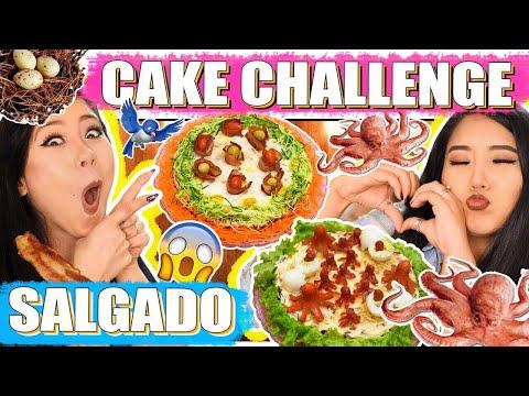 CAKE CHALLENGE (VERSÃO SALGADA) | Blog das irmãs