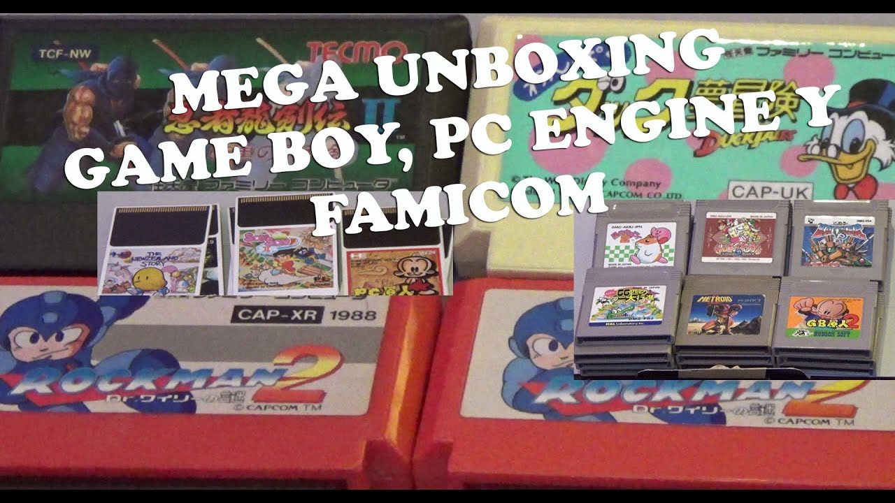 Unboxing Juegos Retro Japoneses Game Boy Nintendo Famicom Y Pc