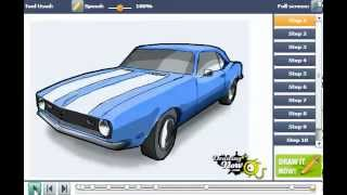 How To Draw Chevy Camaro Car