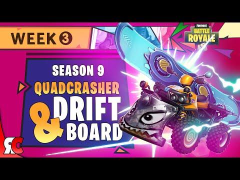 Driftboard And Quadcrasher Locations In Season 9 (Fortnite Week 3 Challenge)