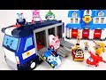 Stop the dinosaurs' egg bombs! Go Superwings and robocar poli's mobile headquarters! - DuDuPopTOY