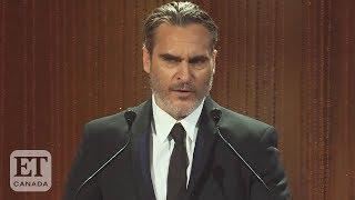 Joaquin Phoenix Honours Brother River Before 'Joker' Premiere