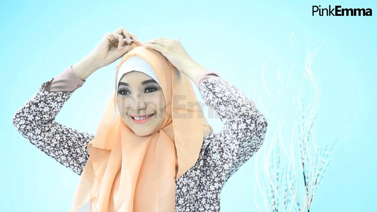 Tutorial Hijab Segi Empat Chic Menutup Dada YouTube