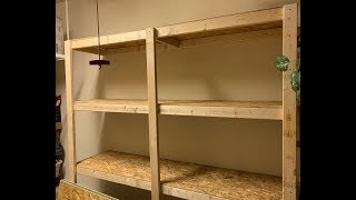 How to Make Garage Shelves (Includes Material Details)