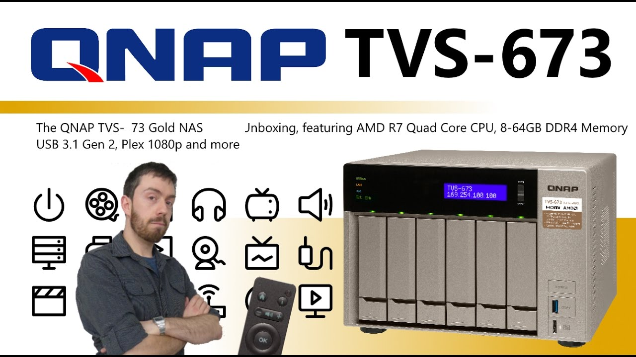 The QNAP PLEX TVS-673 Gold NAS AMD 6-Bay Unboxing Video - Is this the best  Plex NAS I have seen yet