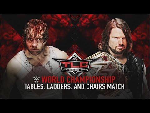 TLC 2016 - Dean Ambrose vs. AJ Styles - Official Match Card (FULL HD)
