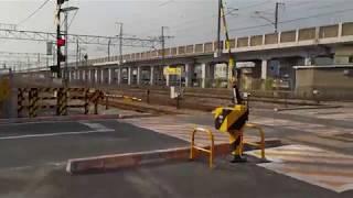 鉄道施設【第一種踏切】山陽本線・東岡山駅構内・窪田踏切(平成30年11月25日)