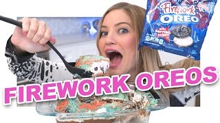 How to Make an Oreo Firework Cake!