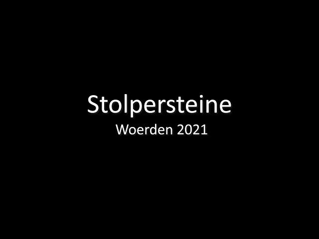 Stolpersteine - Woerden 2021- lezing - Lucien Harthoorn