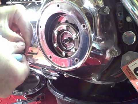Harley Davidson Deuce >> Motorcycle Repair: Changing the Primary Chaincase Oil on a 2008 Harley Davidson Road Glide - YouTube