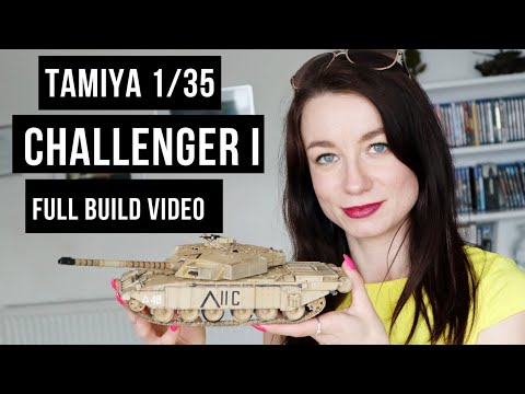 Anna builds her 1/35 Challenger I scale model video