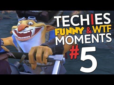 Techies WTF & Funny Moments #5 - DotA 2