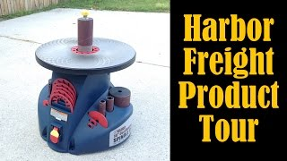 Harbor Freight Oscillating Spindle Sander Product Tour (cmrw#33)