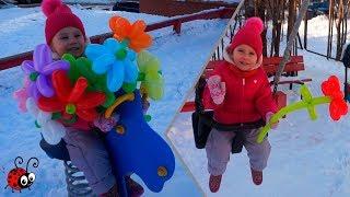 Culegem Floricele Colorate   Invatam Culorile cu ajutorul Baloanelor