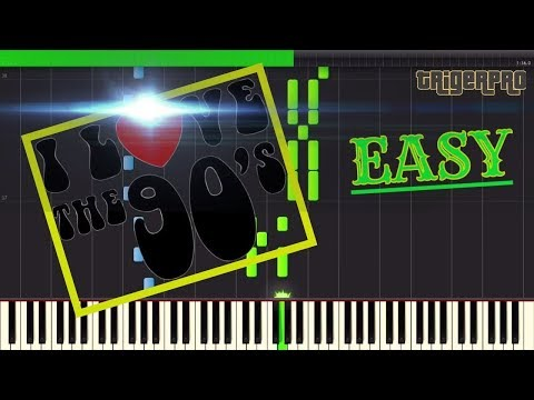 EASY! Running in the 90's - Initial D(Piano Tutorial) [Synthesia]  Sheet Music Boss  Midi Cover