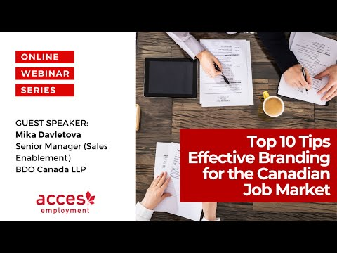 Top 10 Tips - Effective Branding for the Canadian Job Market