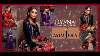 Asim Jofa New Winter Collection #Fancy Velvet Dresses Design=FSBS