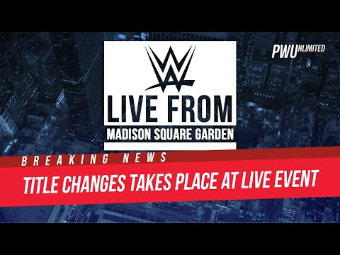 BREAKING NEWS: Title Change Takes Place At WWE Live Event (VIDEO)