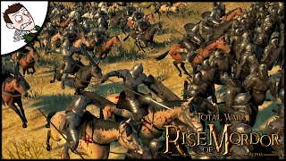 MASSIVE GONDOR CAVALRY AMBUSH! Rise of Mordor Mod Total War Gameplay