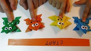DIY Как сделать ПРЫГАЮЩУЮ ЛЯГУШКУ из бумаги | how to make a frog