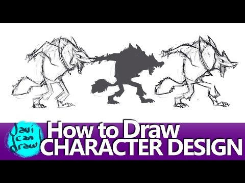 HOW TO DRAW CHARACTER DESIGN OF A BIG BAD WOLF