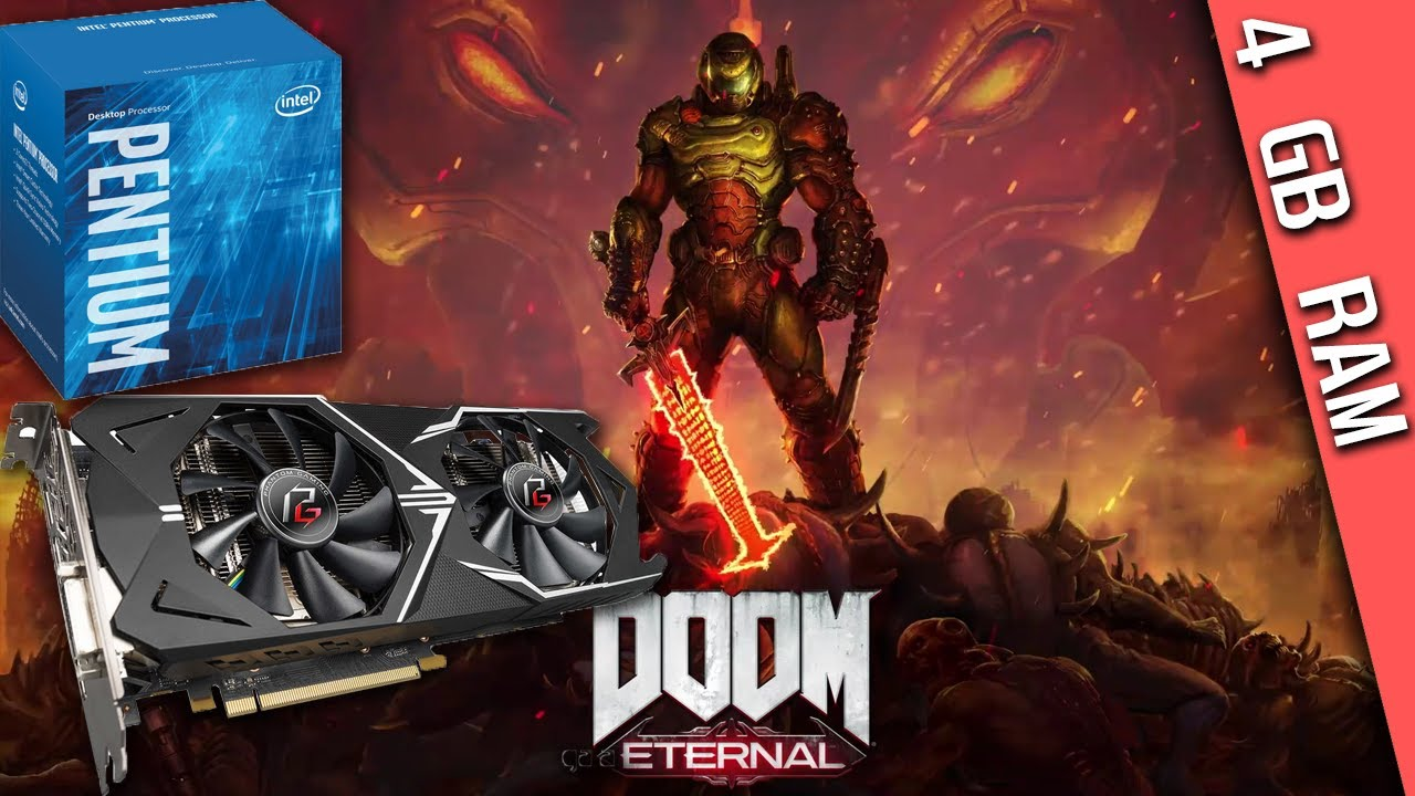DOOM Eternal (1680x1050, Custom high)  G4560 + RX 570 + 4GB RAM