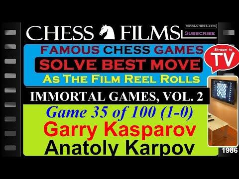 Chess: Immortal Games, Vol. 2 (#35 of 100): Garry Kasparov vs. Anatoly Karpov