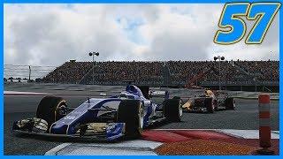 LATE RACE RAIN BATTLING FOR A PODIUM  17/20  F1 2017 Sauber Career Mode S3. Episode 57