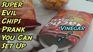 Super Evil Chips Prank You Can Do At Home - HOW TO PRANK (Evil Booby Traps)