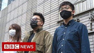 Hong Kong's Joshua Wong and pro-democracy activists jailed - BBC News