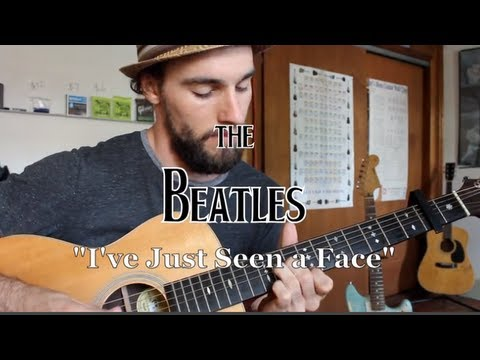 The Beatles - I\'ve Just Seen a Face - Guitar Lesson - YouTube
