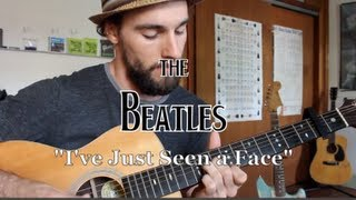 The Beatles - I've Just Seen a Face - Guitar Lesson ♪♫