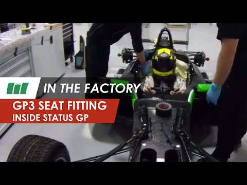 Seat fit with Nick Yelloly, Status Grand Prix | GP3 Series 2014 | IN THE FACTORY